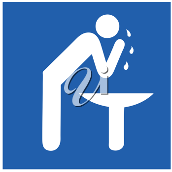 Royalty Free Clipart Image of a Person Washing Their Face