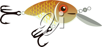Royalty Free Clipart Image of a Fish Lure