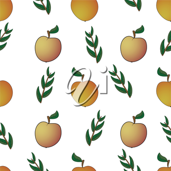 Apple twigs leaf abstract, seamless pattern, EPS8 - vector graphics.