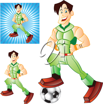 Royalty Free Clipart Image of a Three Images of a Man
