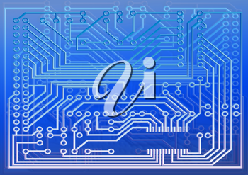 Royalty Free Clipart Image of an Electric Board
