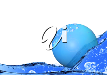 Royalty Free Clipart Image of a Bubble Floating in Water