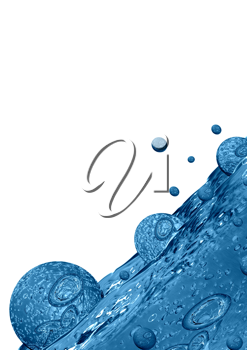 Royalty Free Clipart Image of Bubbles in Water