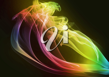 Royalty Free Clipart Image of Abstract Smoke