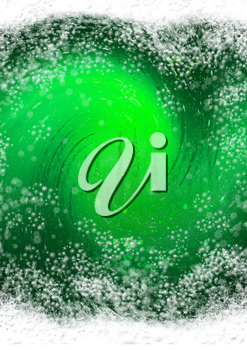 Royalty Free Clipart Image of a Green and White Swirling Background