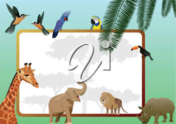 Royalty Free Clipart Image of a Safari Background