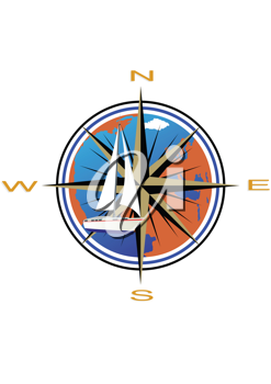 Royalty Free Clipart Image of a Compass