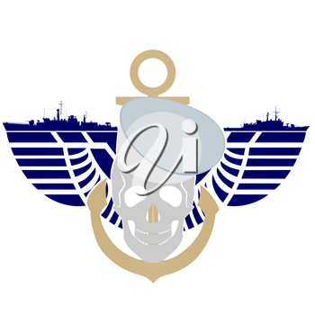 Icon Navy USA. The illustration on a white background.