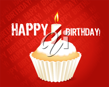 Royalty Free Clipart Image of a Happy Birthday Greeting Card