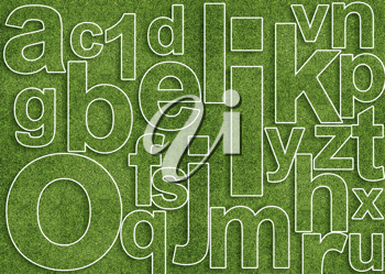 Royalty Free Photo of a Background of an Alphabet With a Number 1 in the Mix
