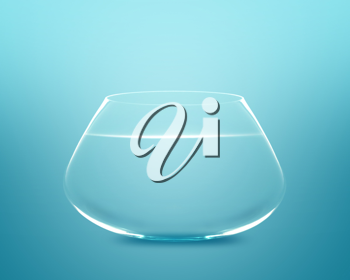 Royalty Free Photo of an Empty Fishbowl with Water