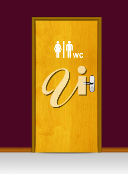 Royalty Free Photo of a Male and Female Public Restroom