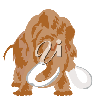 Royalty Free Clipart Image of a Prehistoric Mammoth