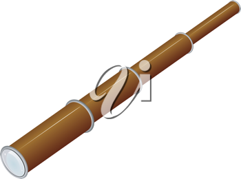 Royalty Free Clipart Image of a Toy Spyglass