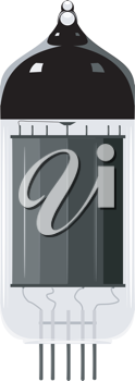 Royalty Free Clipart Image of a Vacuum Tube