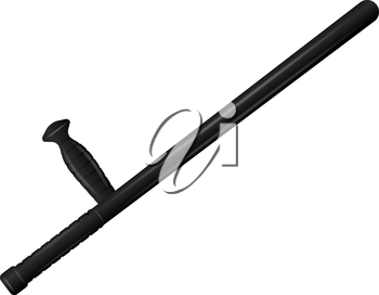 Realistic image of a baton on a white background.