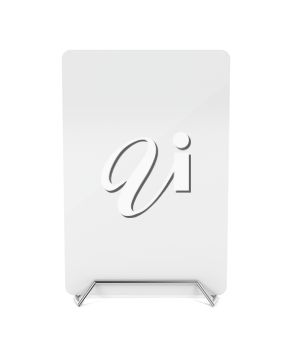 Metal menu holder with white paper