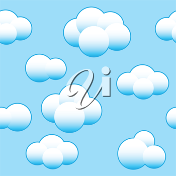 Royalty Free Clipart Image of a Cloud Background