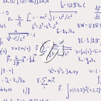 Royalty Free Clipart Image of a Background of Formulas