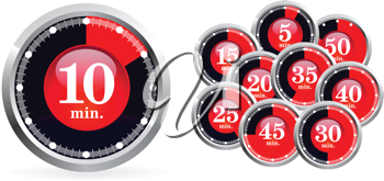 Royalty Free Clipart Image of Timers