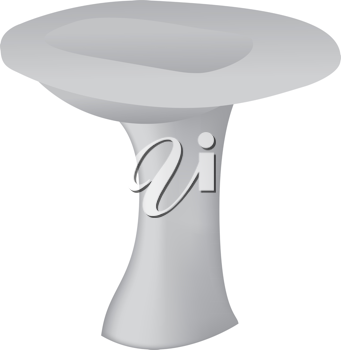 Royalty Free Clipart Image of a Sink With No Taps