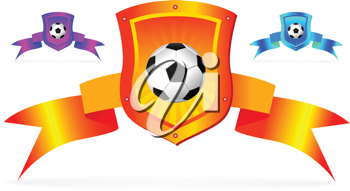 Royalty Free Clipart Image of Soccer Shields