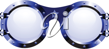 Royalty Free Clipart Image of Sunglasses in Disco Style