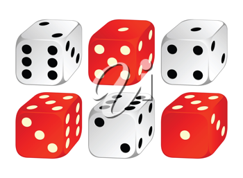 Royalty Free Clipart Image of Dice