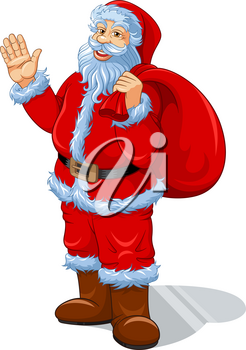 Santa Claus cartoon vector illustration