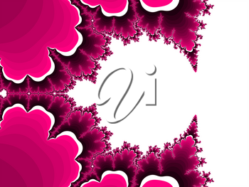Pink abstract fractal illustration useful as a background
