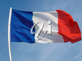 the French national flag of France, Europe
