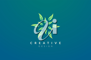 Design abstract flower and leaf logo for spa, hotel, beauty, health, fashion, cosmetic, boutique, salon, yoga, therapy. Simple and modern vector design for your business brand or product