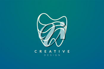 Tooth shape design ideas. Modern minimalist and elegant vector illustration. Can be used for patterns, labels, brands, icons or logos