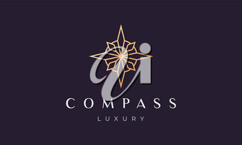 compass logo concept in a modern and luxury style with clean and minimalist shape