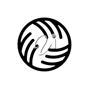 Ball water polo sign. Ball for playing on water games icon
