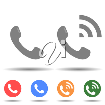 Call speaker icon vector logo isolated on background