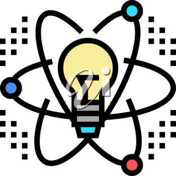 idea and realization neural network color icon vector. idea and realization neural network sign. isolated symbol illustration