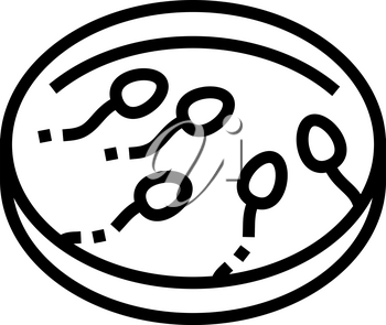 sperm preparation line icon vector. sperm preparation sign. isolated contour symbol black illustration