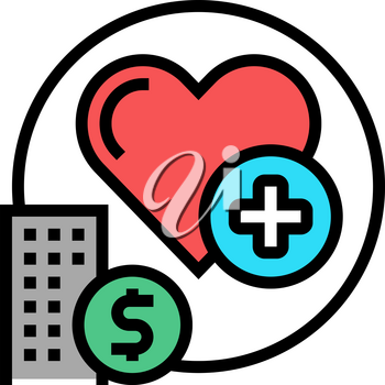 health care benefits color icon vector. health care benefits sign. isolated symbol illustration