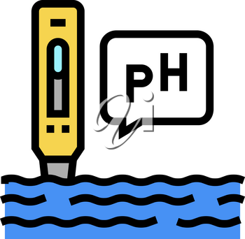 ph water color icon vector. ph water sign. isolated symbol illustration