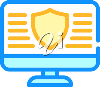 data security operating system color icon vector. data security operating system sign. isolated symbol illustration
