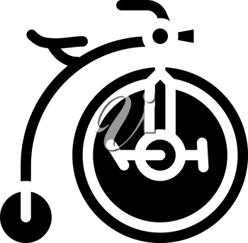 bike technique museum exhibit glyph icon vector. bike technique museum exhibit sign. isolated contour symbol black illustration