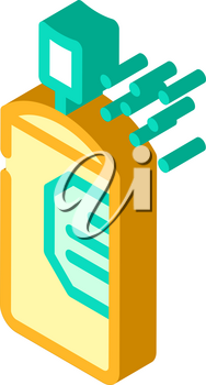paint color bottle isometric icon vector. paint color bottle sign. isolated symbol illustration