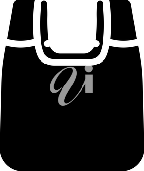 bag plastic material glyph icon vector. bag plastic material sign. isolated contour symbol black illustration