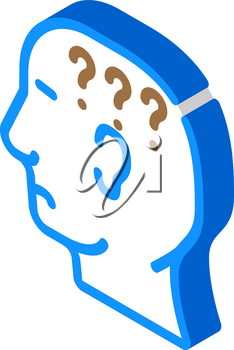 question neurosis isometric icon vector. question neurosis sign. isolated symbol illustration