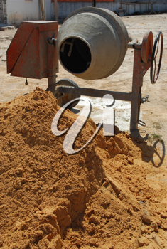 Royalty Free Photo of a Cement Mixer