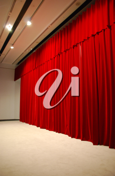 Royalty Free Photo of Red Theater Stage Curtains