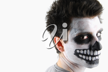 Royalty Free Photo of a Man With His Face Painted