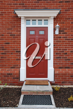 Royalty Free Photo of the Entrance to a Residential House