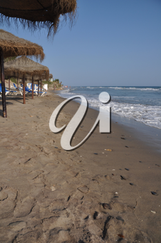 Royalty Free Photo of a Beach in Costa Del Sol (Marbella), Spain